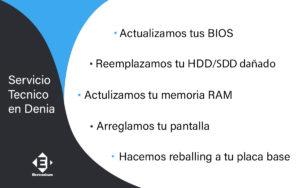 caracteristicas servicio tecnico Denia