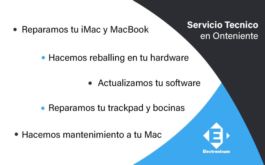 servivio tecnico macbook pro en onteniente